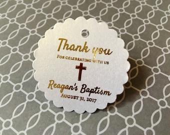 Baptism favor tags, christening, thank you favor tags, personalized favor tags, custom favor tags, available in Spanish - mi bautizo