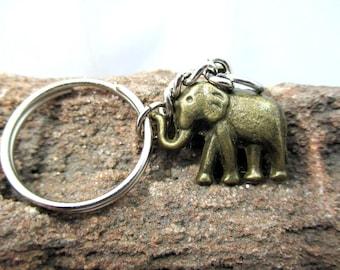 Cute charms Elephant brass pendant key ring key chain