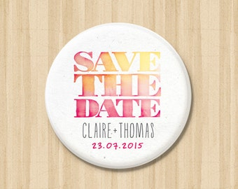 Dip Dye - Save the Date Magnets