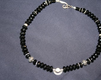 TRIDANT Onyx and Sterling Necklace