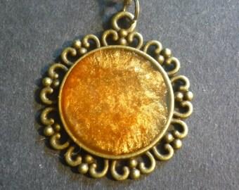 Bronze Burst Necklace Pendant in Tibetan Bronze.
