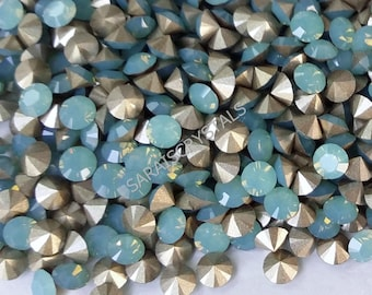 25 pcs Swarovski Crystal Rhinestones Pointed Back Chatons Pacific Opal SS19  (4.4 - 4.6mm) 1028 Xilion Rose