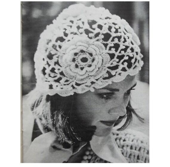 Patron de crochet pdf de tejido sombrero con flores gorro