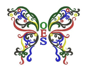 oes butterfly silhouette cut files jpeg svg eps png gsp rh etsy com oes clip art grand chapter oes clipart pinterest