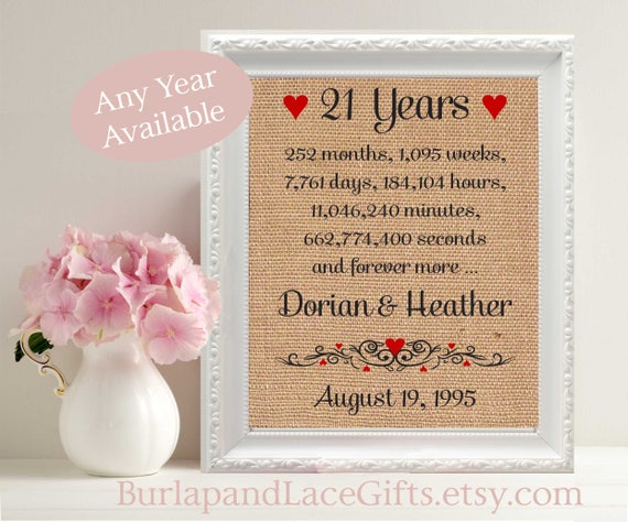 33rd Wedding Anniversary Gift: 21 21st Anniversary 21 Years Together Gift To Wife Gift To