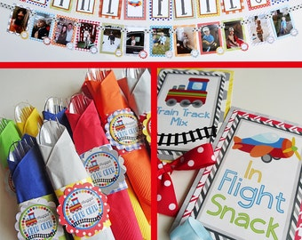 Planes Trains Birthday Party Decorations | Fully Assembled Decorations | Airplane Trains Automobiles Party | Train Party | Things That Go