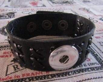 bracelet for 1 pressure 18mm / 20mm diameter black