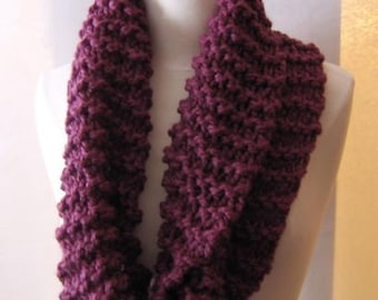 Soft and Plush Plum or Fig Cowl Scarf Neck Warmer