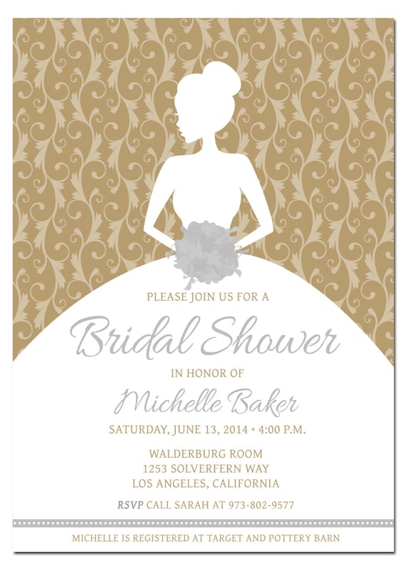 Printable DIY Bridal Shower Invitation Template With - Couples wedding shower invitations templates free