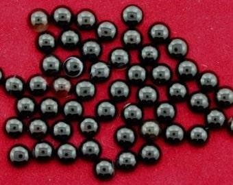 TWELVE 5mm Round Black Banded Onyx Cab Cabochon Gem Stone Gemstone BOC17