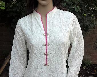 Indian pakistani kurta kurti kameez Wedding embroidered Party dress