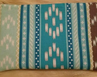 Blue Pattern Zipper Bag