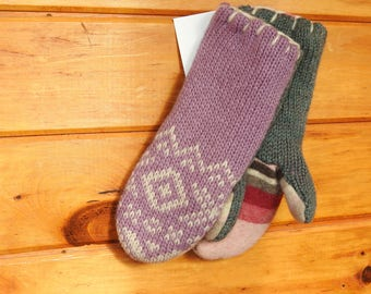 Soft Lavender Upcycled Sweater Mittens