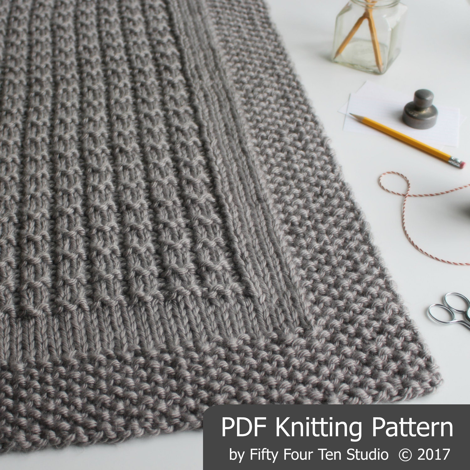 KNITTING PATTERN / Over the Rooftops Blanket / Throw / Afghan / Knit ...