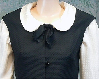 Vintage 60s Mod Pencil Skirt and Vest Set, Schoolgirl Dolly, Small