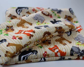 Animals: Snack Bags, Sandwich Bags, Washable, Reusable, Eco Friendly, Minimalist