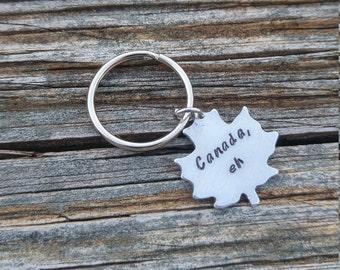 Canada Keychain | Maple Leaf Keychain | Custom Keychain | Personalized Keychain | Custom Canada Keychain | Personalized Canada Keychain