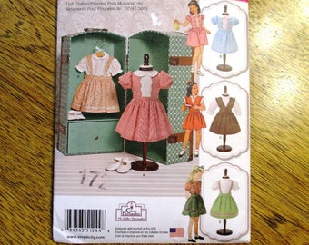 "VINTAGE Doll Dresses: 1950s Dress Designs/ Cute Doll Dress / DIY Doll Clothing for 18"" Dolls - UNCUT ff Sewing Pattern Simplicity 1244"