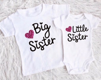 Big sister little sister outfits little sister bodysuit little sister shirt big sister  big sister shirt shirts for girls new baby girl