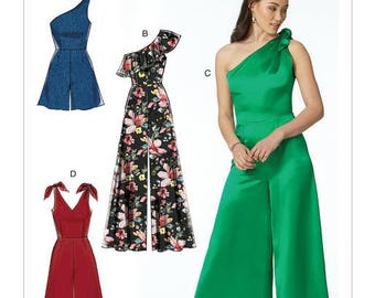McCall's Pattern M7632 Misses' Romper and Jumpsuits with Bodice Options