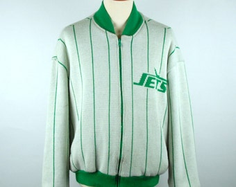 New York Jets Cliff Engle Sweater, Size Large, Cliff Engle Cardigan,