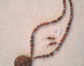 Red Creek Jasper necklace and earring set