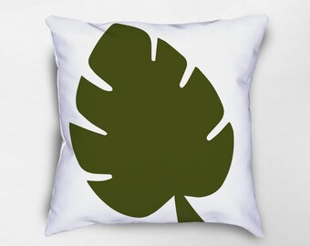Split Palm Leaf Throw Pillow, Palm Leaf Pillow, Tropical Pillow, Tropical Pillow Cover, Nature Pillow, Botanical Pillow, Beach House Decor