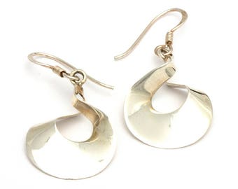Cirque Curl Sterling Silver Earrings