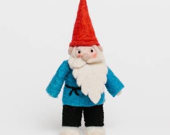 Felt Gnome Ornament, Winter's Garden Gnome, Felt Christmas Ornament