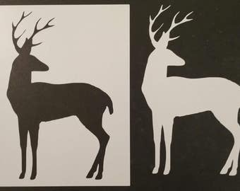 White-Tailed Deer Buck Custom Stencil FAST FREE SHIPPING