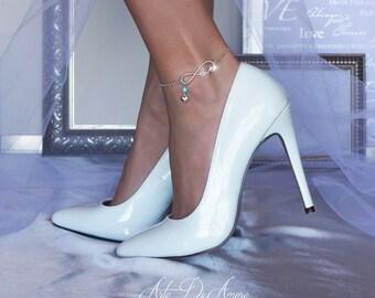 Something Blue Infinite Love Chain Wedding Anklet for Bride