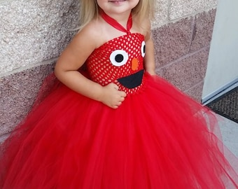 Elmo tutu dress costume outfit - Sesasme street  sc 1 st  Etsy & Purple minions monster tutu costume outfit monsters inc