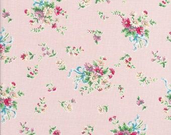 Pink Daisy Fabric - Tiny Pink Flowers - Dear Little World Bunny - Quilt Gate