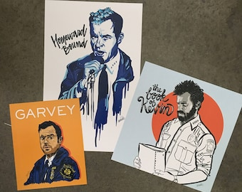 "Set of 3 ""Kevin Garvey"" Prints from The Leftovers"
