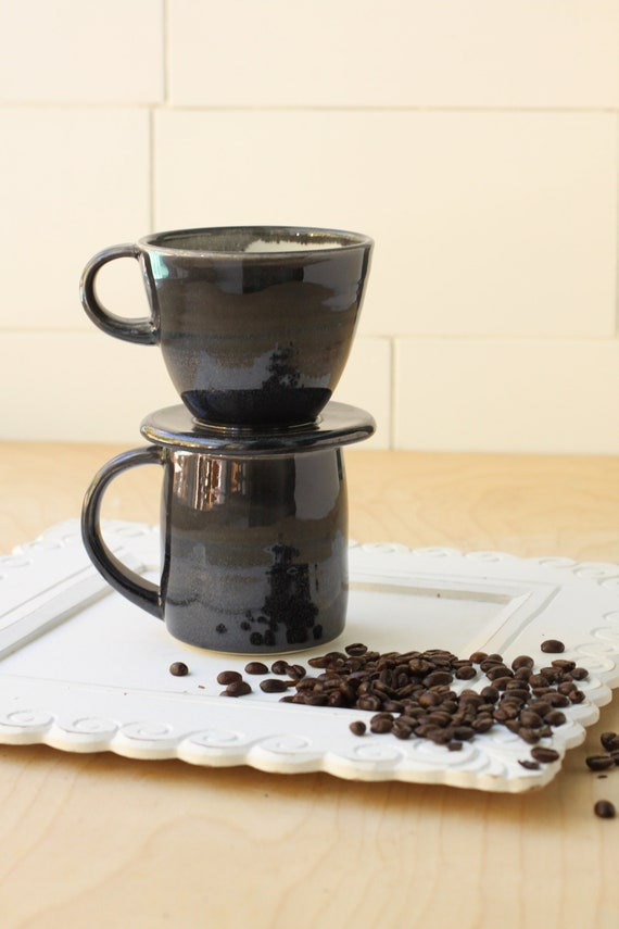 Black Drip coffee maker // pour over coffee // drip coffee pot