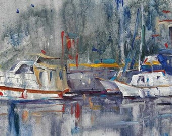 Calm Waters (Moored Yachts)