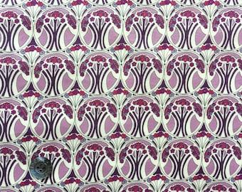 "Liberty Lawn fabric MAUVERINA - 17"" wide x 13"" (43cm x 33cm) - purple"