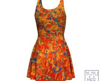 """Paint Splash Art Print Dress, """"Split Compliment"""""""