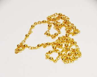 """14k Yellow Gold  18"""" Beaded Necklace."""