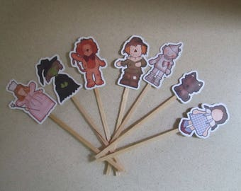 Wizard of Oz Inspired Cupcake Toppers Set of 28 with Free Shipping