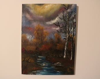 Country Creek Oil Painting