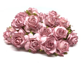 DUSKY PINK CLASSIC Mulberry Paper Roses CR021