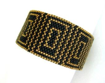 Peyote Pattern - Luxury - INSTANT DOWNLOAD PDF - Peyote Stitch Bracelet Pattern - Geometric Peyote Pattern - One Drop Even Peyote Stitch