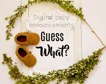 Unique Baby Announcement / Facebook Pregnancy Reveal