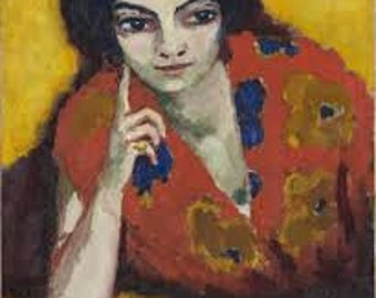 Finger on her Cheek by Kees van Dongen Home Decor Wall Decor Giclee Art Print Poster A4 A3 A2 Large Print FLAT RATE SHIPPING