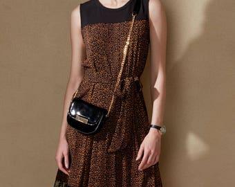 Light & Airy Sleeveless Calico Pattern Dress
