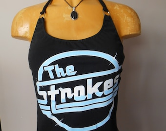 The Strokes halter top Reconstructed DIY Music Rock Band
