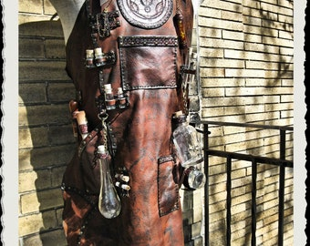 Leather Apron - Alchemist - Steampunk -