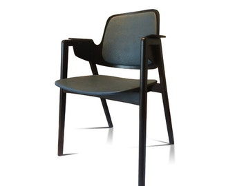 Garnas black stained wood Chair