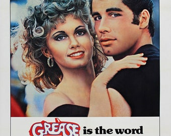 Grease 1978 poster (can be personalised)